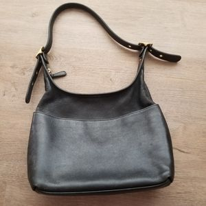 "Vintage coach ""legacy"" black leather shoulder bag"